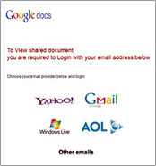 If a site invites you to use your email and password to log into Yahoo!, Gmail, Windows Live, AOL or other email account, DON'T!