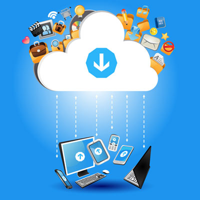 The cloud offers interconnectivity between devices via remote storage.