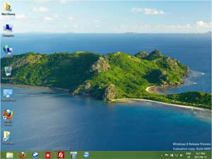 Screen capture showing the Windows 8 legacy desktop